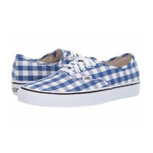 NWT Vans Authentic Gingham True Blue/White Shoes